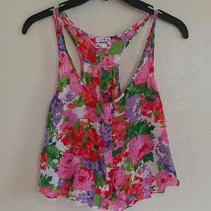 Free People Floral Intimately top size small